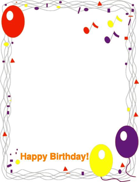 Birthday Borders for Microsoft Word Beautiful Happy Birthday Border Cliparts