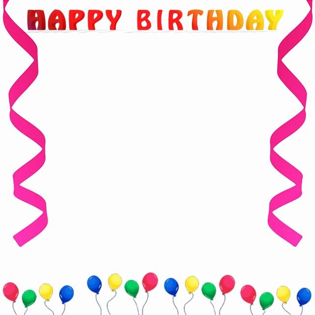 Birthday Borders for Microsoft Word Fresh Best Birthday Border 888 Clipartion