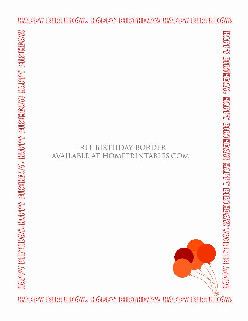 Birthday Borders for Microsoft Word Fresh Fun Designs Free Birthday Borders for Invitations Home