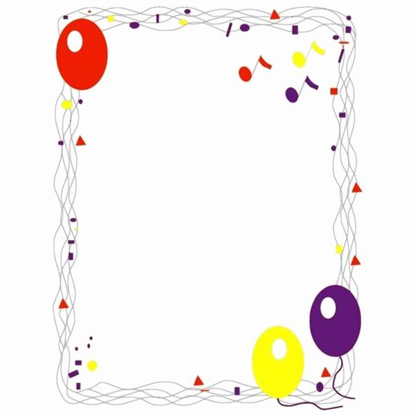 Birthday Borders for Microsoft Word Inspirational Birthday Borders for Microsoft Word
