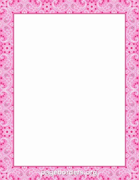 Birthday Borders for Microsoft Word Luxury Printable Pink Bandana Border Use the Border In Microsoft