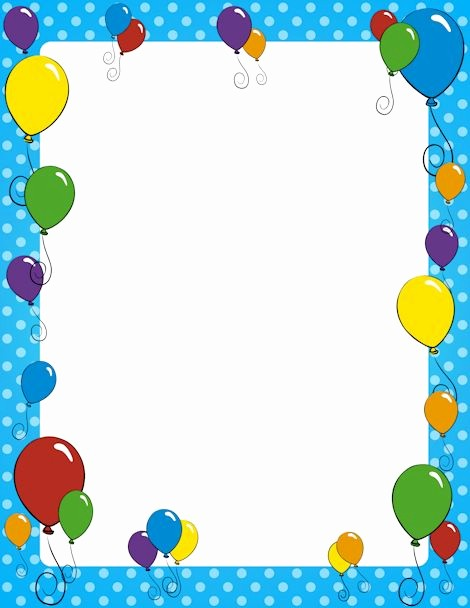 Birthday Borders for Microsoft Word New Balloon Page Border Free S at Pageborders