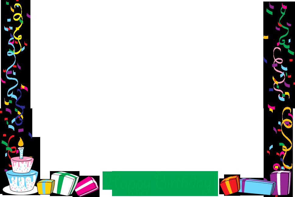 Birthday Borders for Microsoft Word New Birthday Borders Clipart