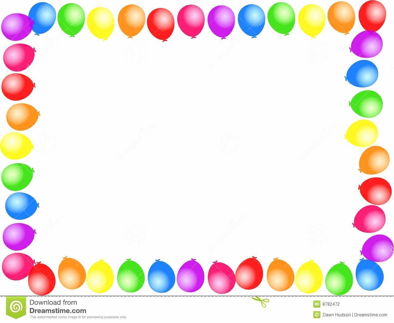 Birthday Borders for Microsoft Word Unique Balloon Border Clipart Clipart Suggest
