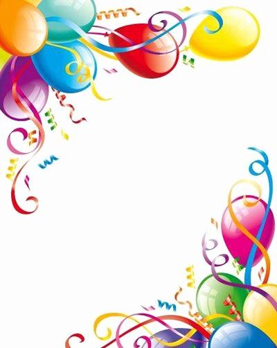Birthday Borders for Microsoft Word Unique Birthday Balloons Border Kids Cakes Balloons