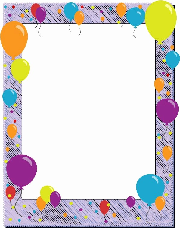 Birthday Borders for Microsoft Word Unique Decorative Backgrounds for Word Documents