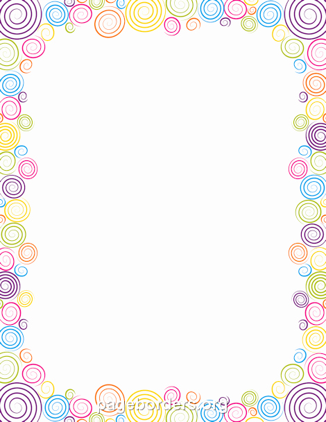 Birthday Borders for Microsoft Word Unique Spiral Border Clip Art Page Border and Vector Graphics