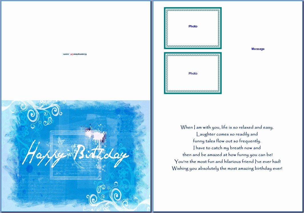 Birthday Card Template for Word Beautiful Birthday Card Template