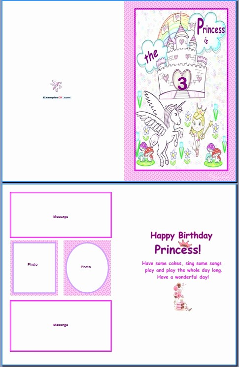 Birthday Card Template for Word Best Of Birthday Word Template