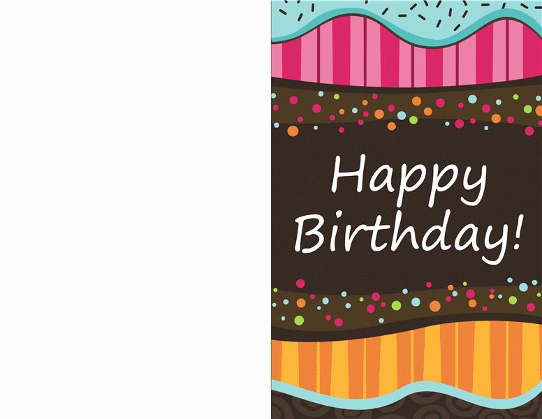 Birthday Card Template for Word Best Of Half Fold Greeting Card Template Templates Station