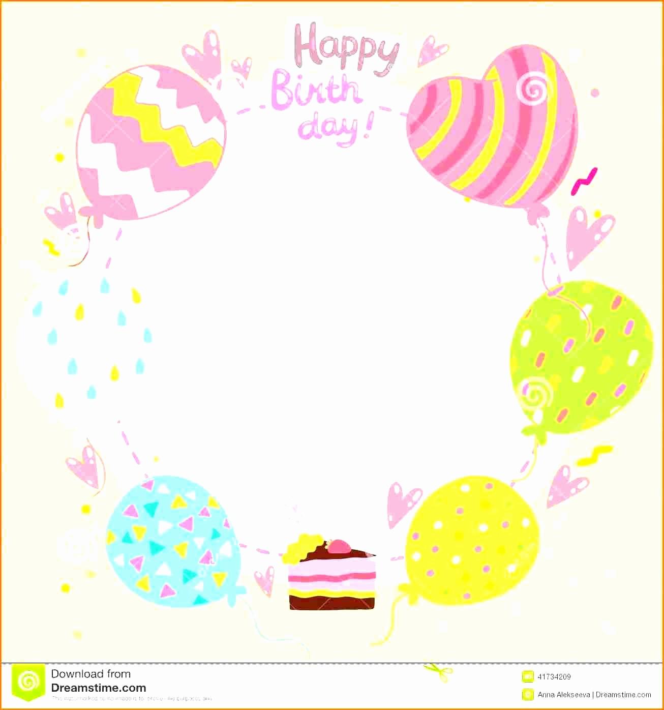 Birthday Card Template for Word Elegant Birthday Card Layout Mughals