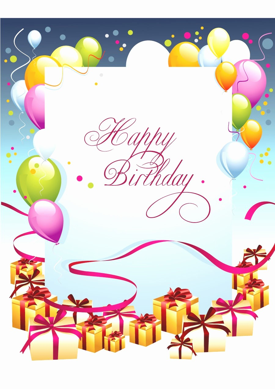 Birthday Card Template for Word Inspirational Birthday Card Layout Mughals