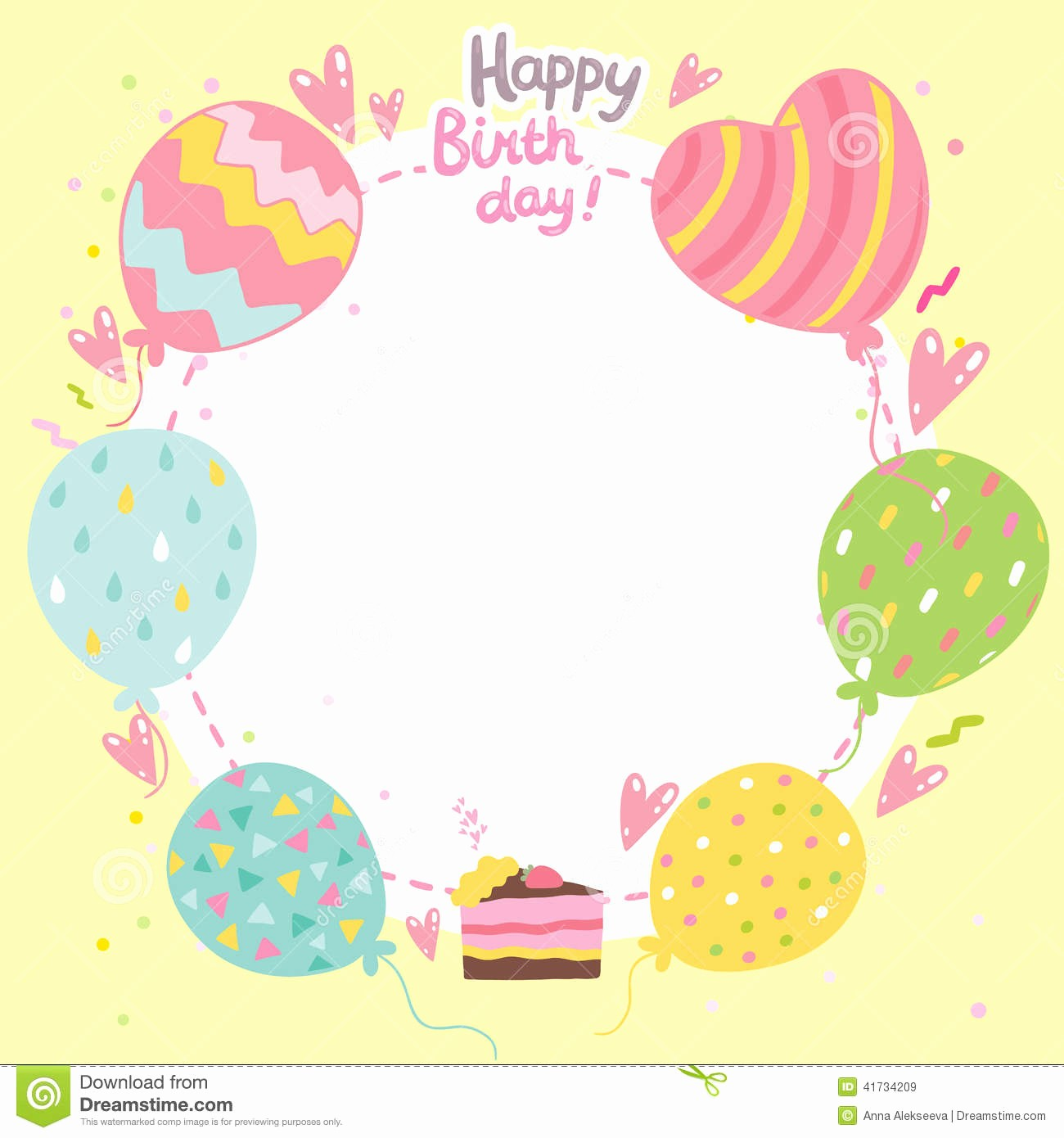 Birthday Card Template for Word Lovely Birthday Card Template
