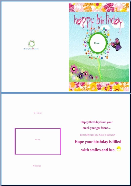 Birthday Card Template for Word Luxury Birthday Card Template Word