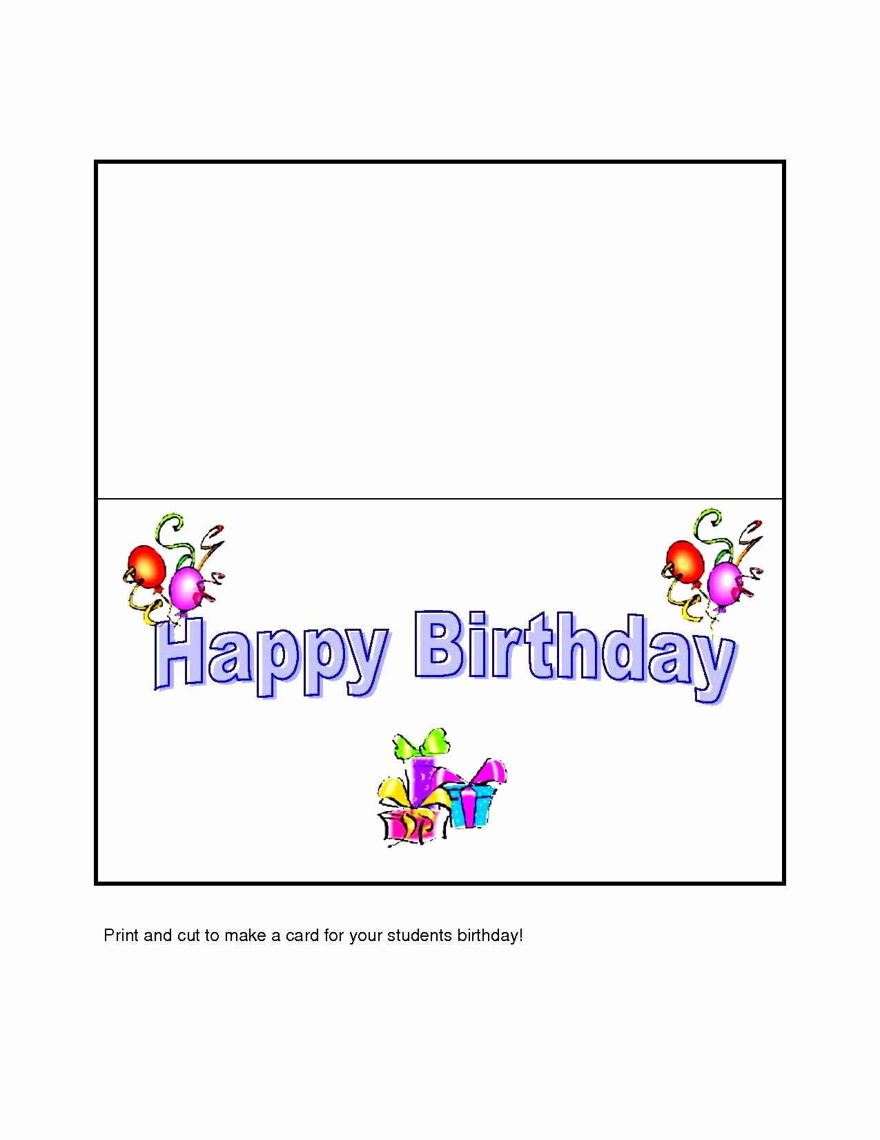 Birthday Card Template for Word Unique Gift Box Templates Free Printable Card Invitation Samples