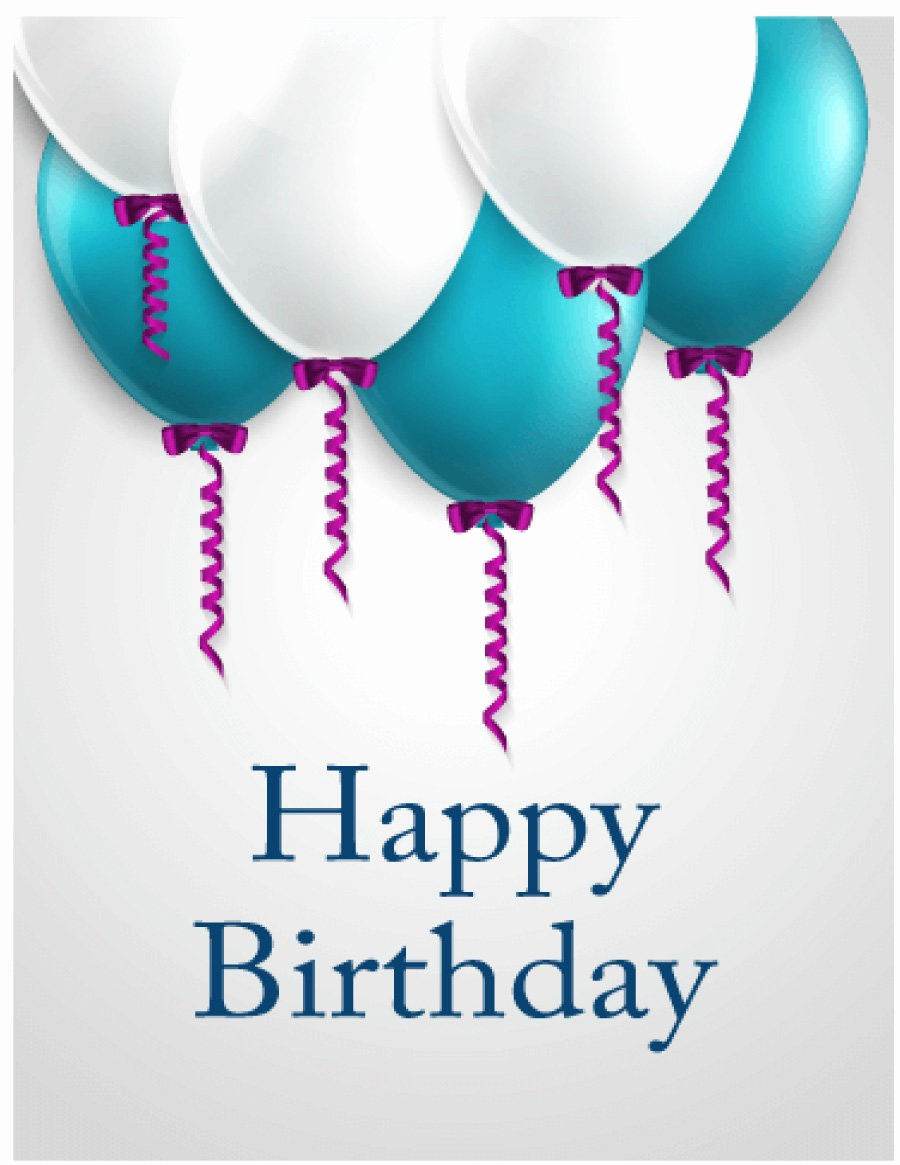 Birthday Card Template with Photo Awesome 40 Free Birthday Card Templates Template Lab