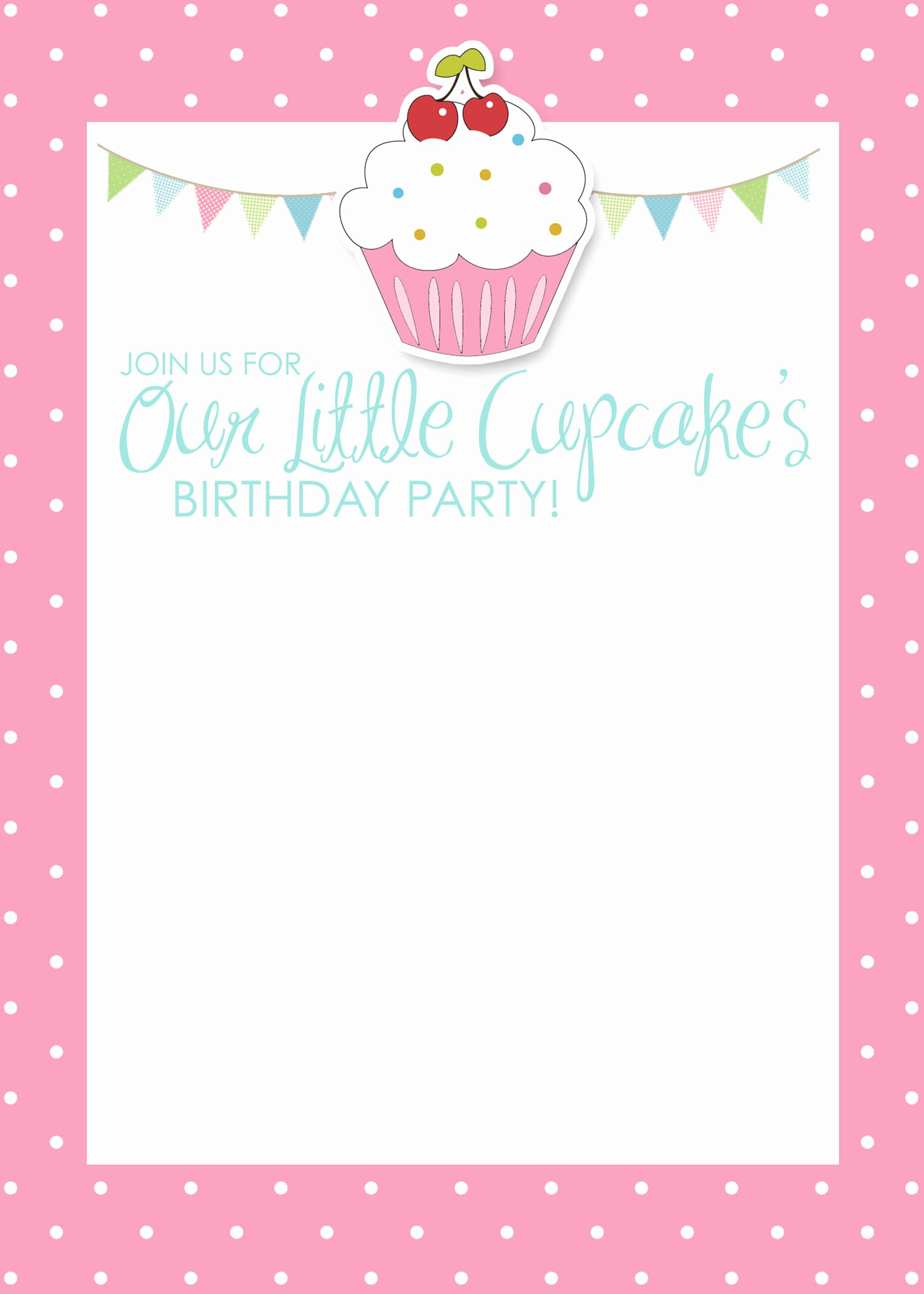 Birthday Card Template with Photo Beautiful Cupcake Birthday Party with Free Printables How to Nest