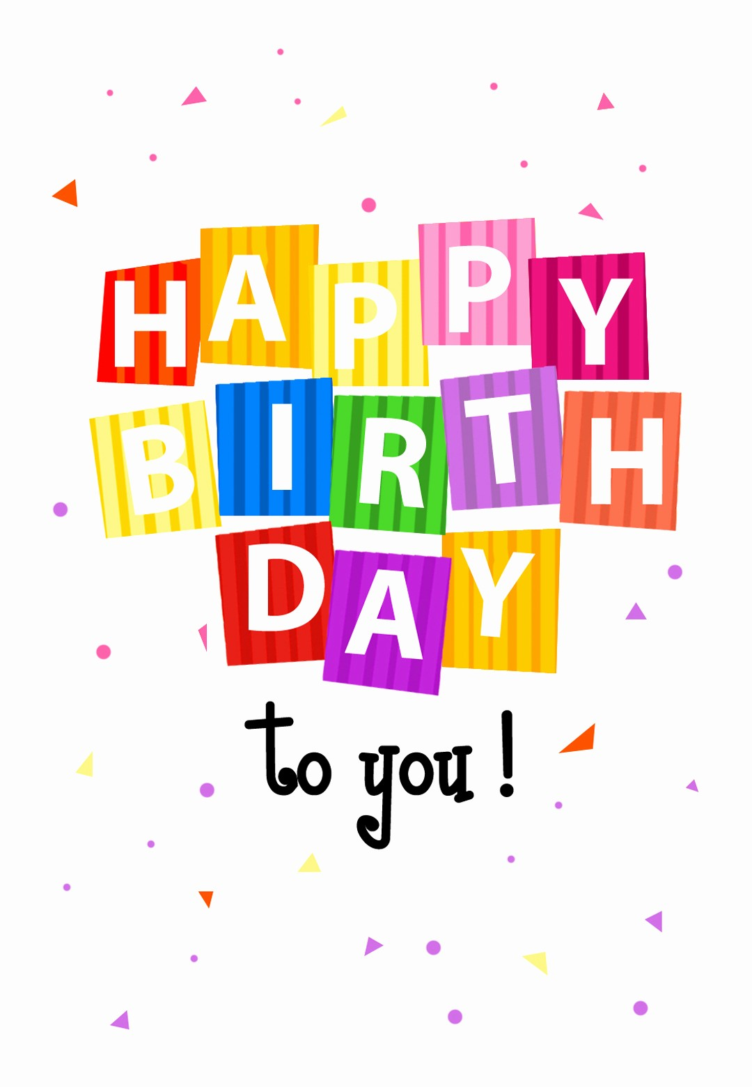Birthday Card Template with Photo Best Of Confetti Birthday Card