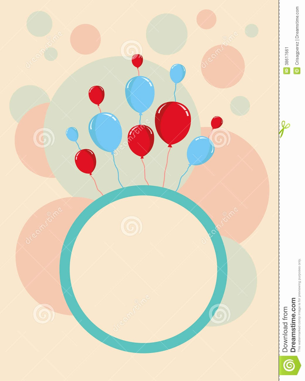Birthday Card Template with Photo Best Of Happy Birthday Card Design Template Stock Illustration