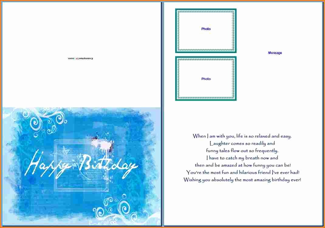 Birthday Card Template with Photo Elegant Birthday Card Template