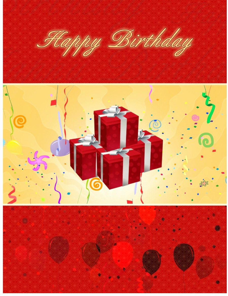 Birthday Card Template with Photo Fresh 40 Free Birthday Card Templates Template Lab