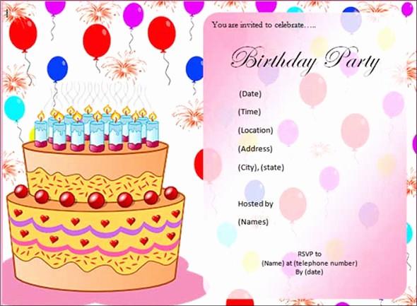 Birthday Card Template with Photo Fresh 50 Printable Birthday Invitation Templates