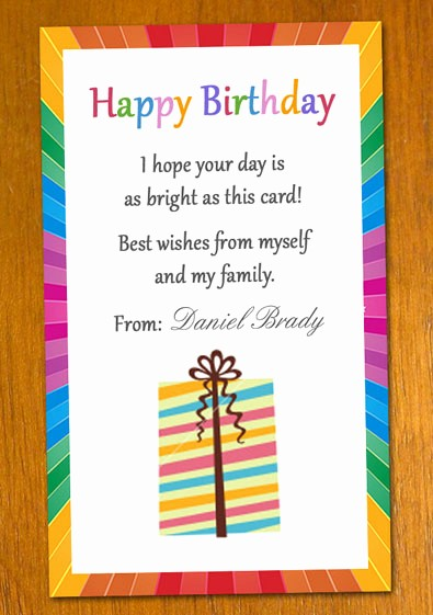 Birthday Card Template with Photo Fresh Free Sample Birthday Card Template