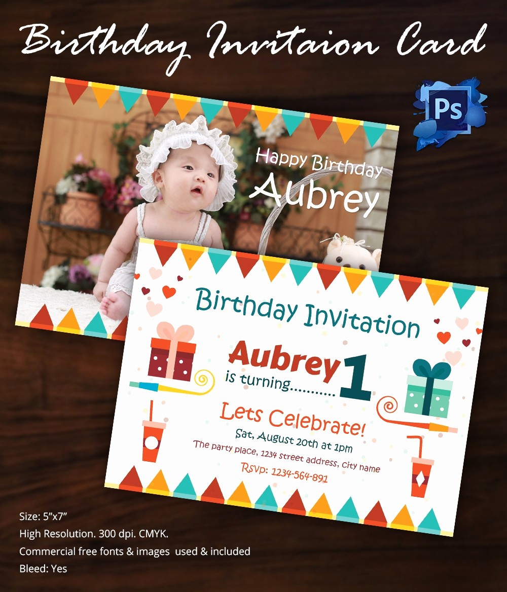 Birthday Card Template with Photo Inspirational Birthday Invitation Template 32 Free Word Pdf Psd Ai