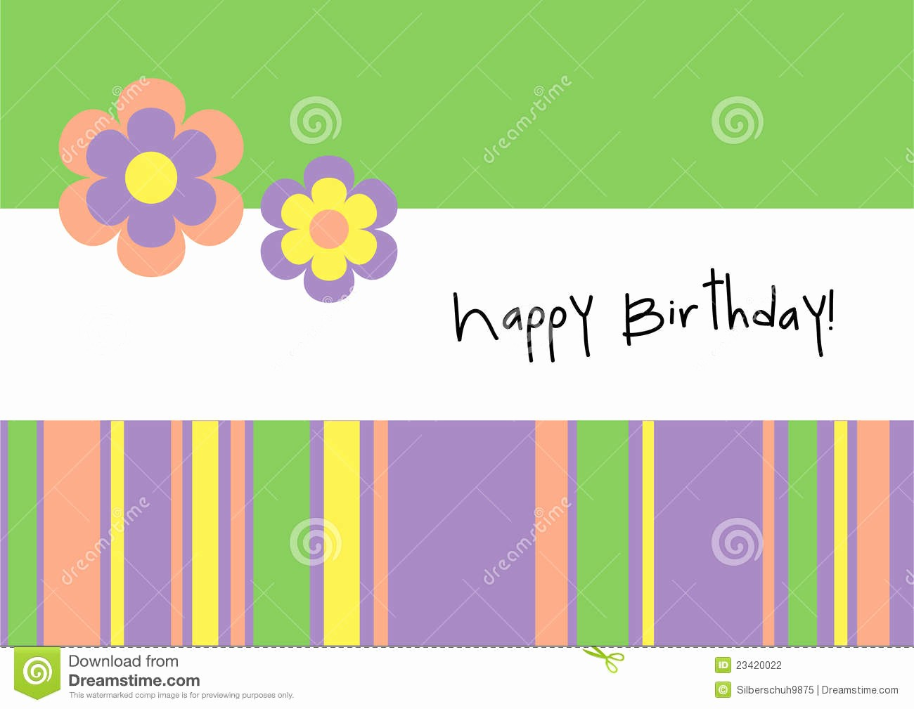 Birthday Card Template with Photo Lovely Happy Birthday Greeting Card Stock Vector