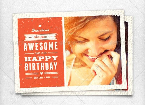 Birthday Card Template with Photo Luxury Birthday Card Template 11 Psd Illustrator Eps format