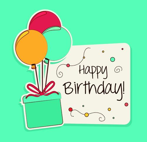 Birthday Card Template with Photo New Cartoon Style Happy Birthday Greeting Card Template 03