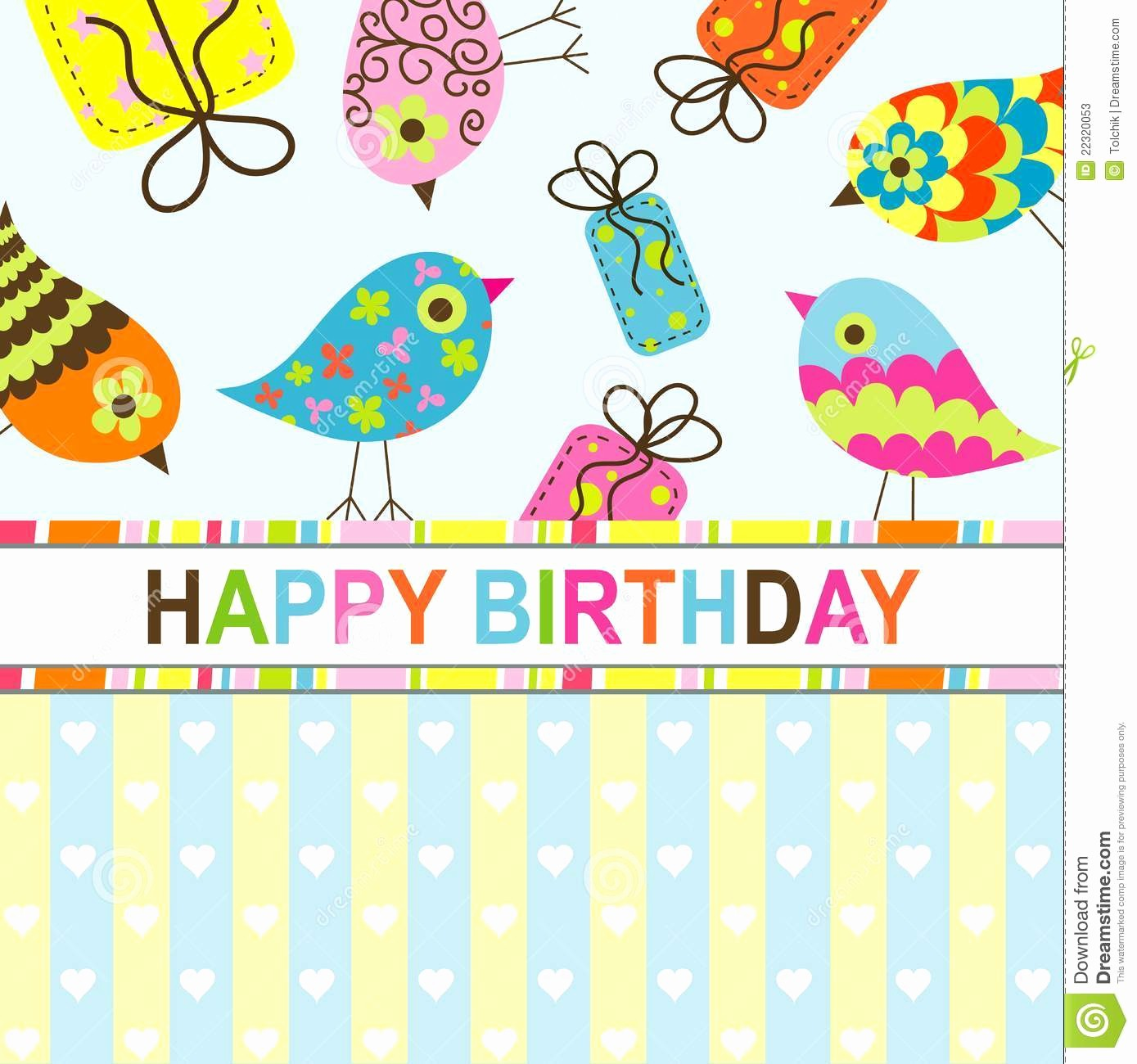 Birthday Card Template with Photo Unique Template Birthday Greeting Card Stock Vector