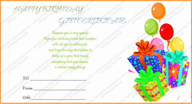 Birthday Gift Certificate Template Word Awesome Printable Gift Bumper Birthday Gift Certificate Template