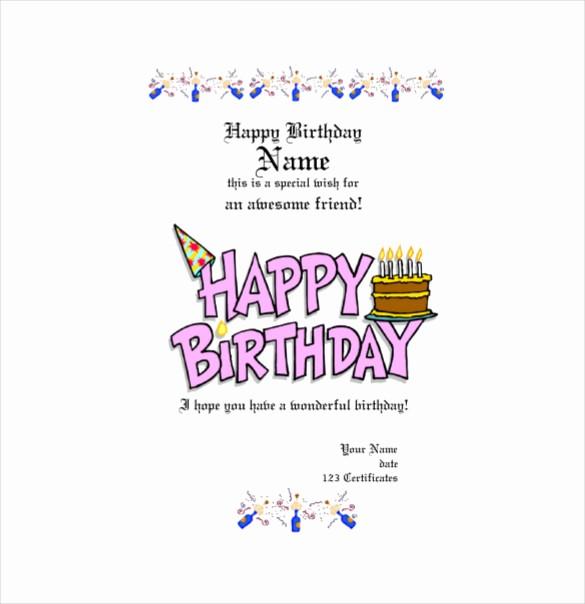 Birthday Gift Certificate Template Word Best Of Birthday Gift Certificate Templates 16 Free Word Pdf
