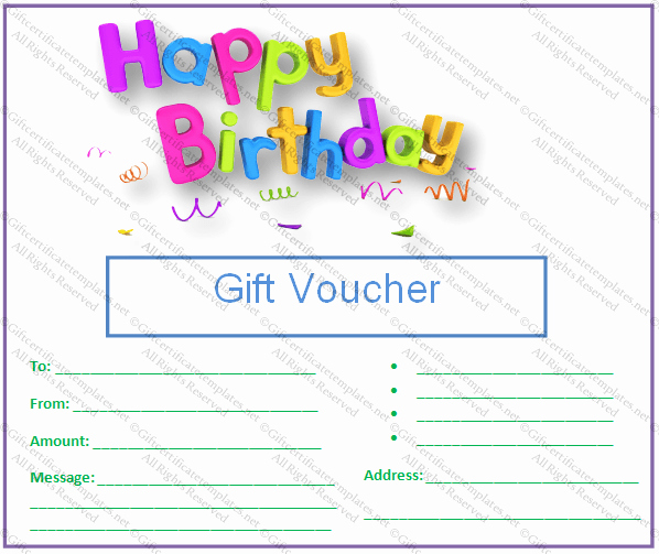 Birthday Gift Certificate Template Word Best Of Birthday Gift Certificate Templates Gift Certificates