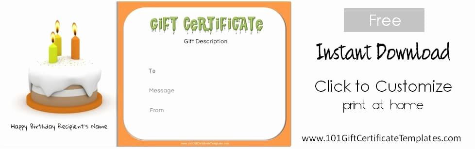 Birthday Gift Certificate Template Word Elegant Free Birthday Gift Certificate Template