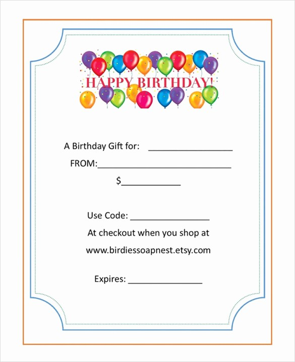 Birthday Gift Certificate Template Word Elegant Free Birthday Gift Certificate Template Word – Lamoureph Blog