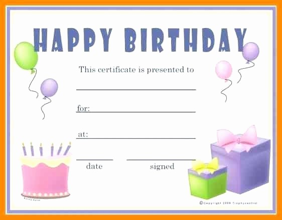 Birthday Gift Certificate Template Word Elegant Template Birthday Gift Template
