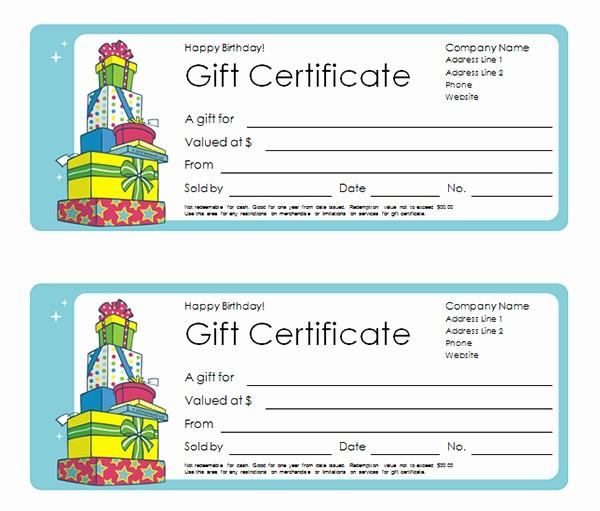 Birthday Gift Certificate Template Word Fresh Birthday Calendar Template Word