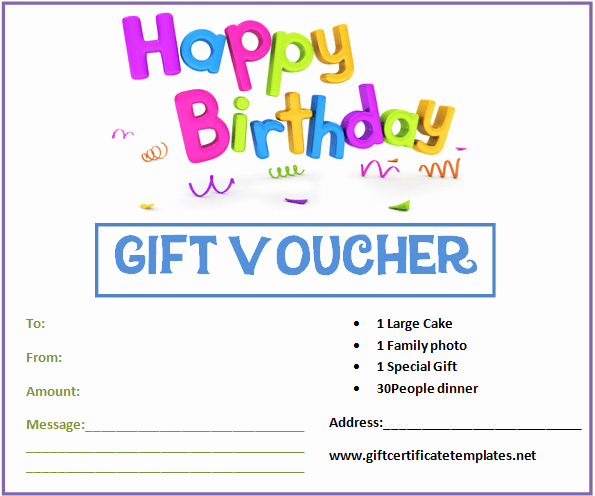 Birthday Gift Certificate Template Word Fresh Birthday T Certificate Template