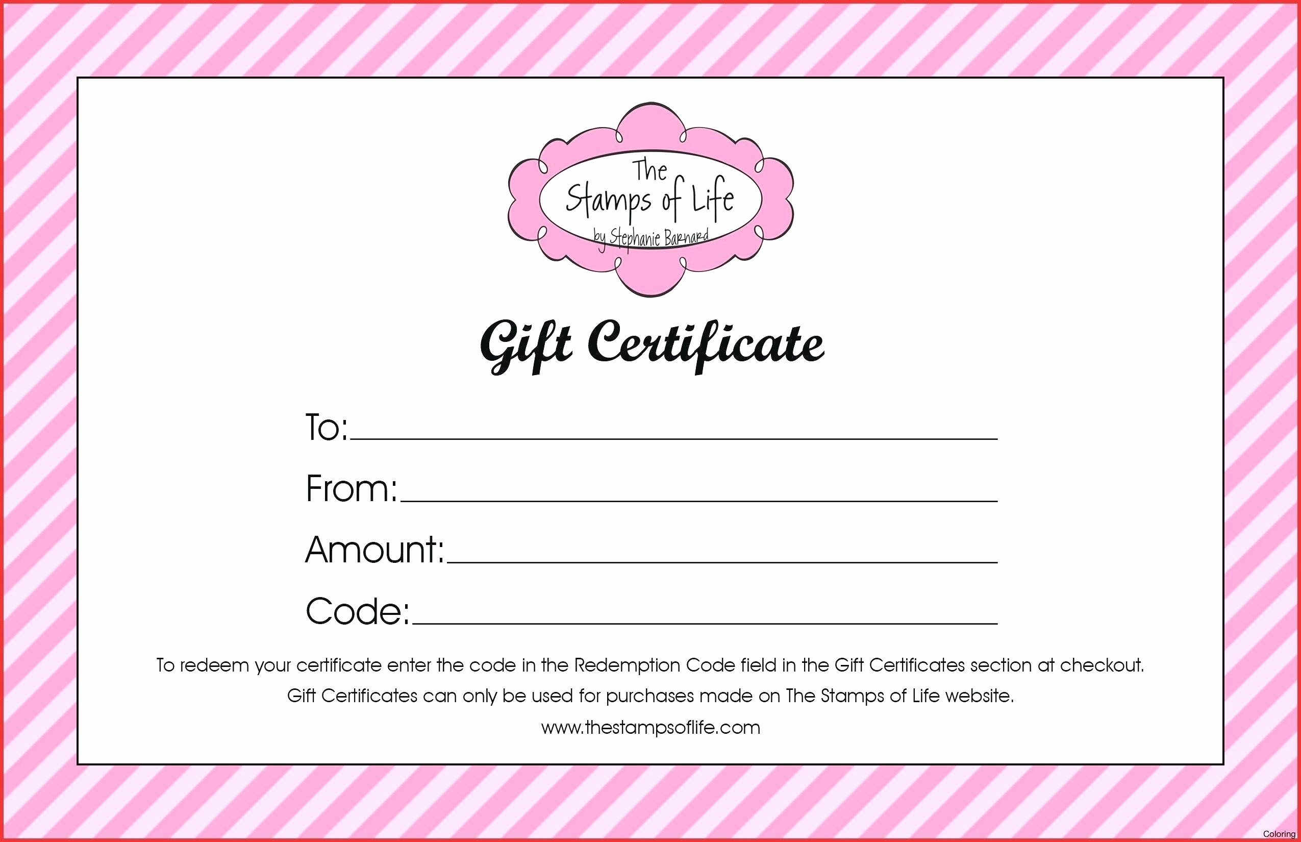 Birthday Gift Certificate Template Word Inspirational Birthday Gift Certificate Template Word Free Gift Ftempo