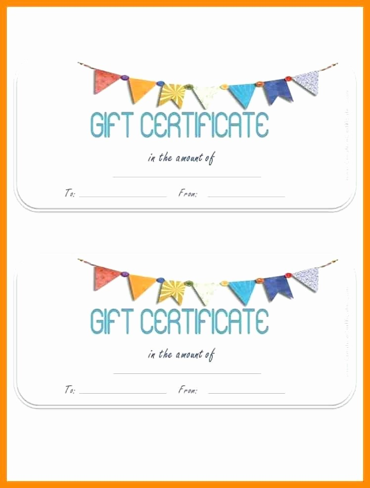 Birthday Gift Certificate Template Word Luxury T Certificate Template – Template Gbooks