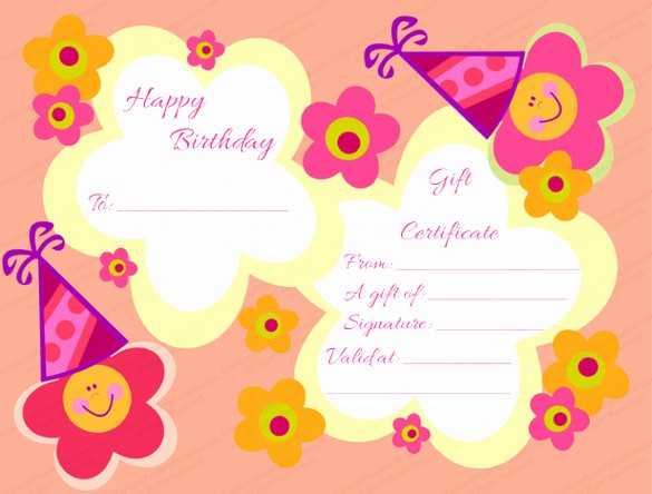 Birthday Gift Certificate Template Word New Birthday Gift Certificate Templates 16 Free Word Pdf