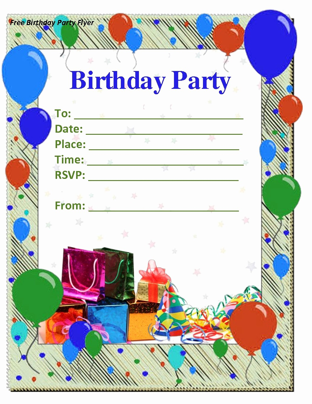 Birthday Invitation Card Template Free Awesome Birthday Invitation Template