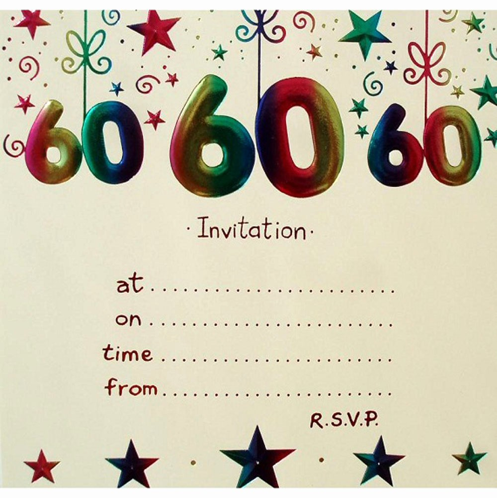 Birthday Invitation Card Template Free Best Of 20 Ideas 60th Birthday Party Invitations Card Templates