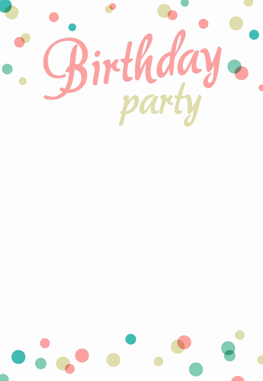 Birthday Invitation Card Template Free Best Of Birthday Party Invitation Free Printable