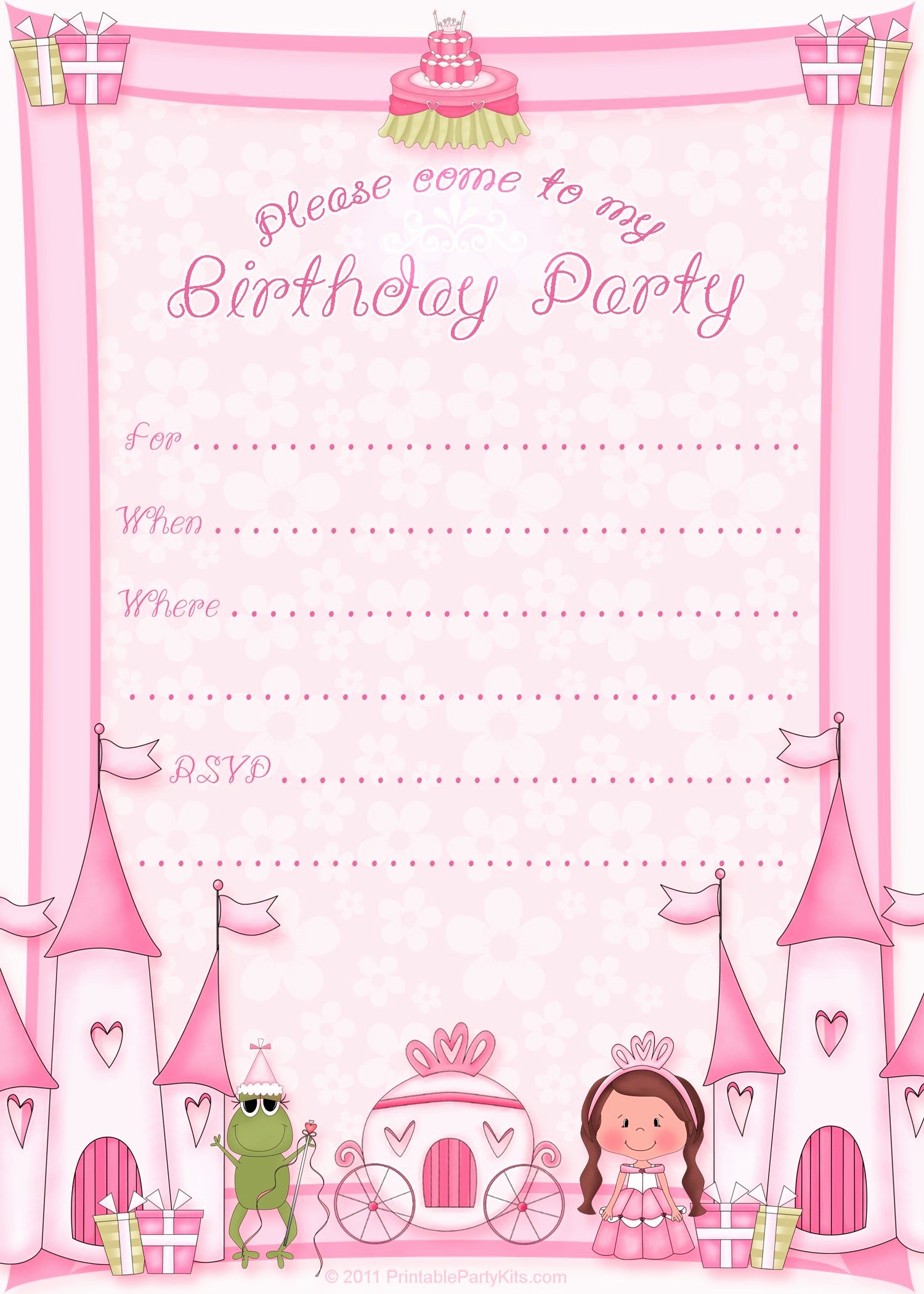 Birthday Invitation Card Template Free Best Of Free Printable Invitation Pinned for Kidfolio the