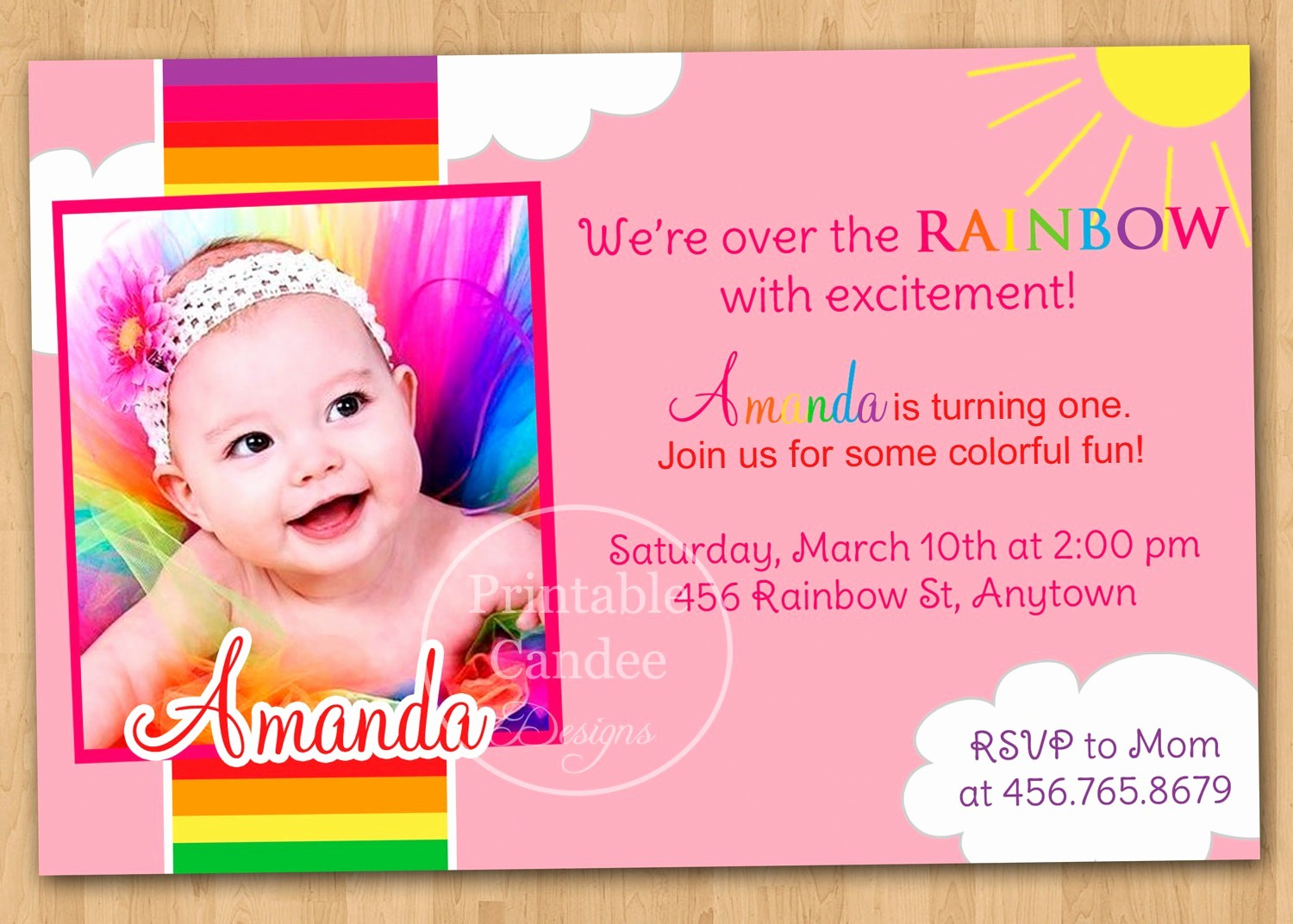 Birthday Invitation Card Template Free Elegant Baby Birthday Invitation Card Template