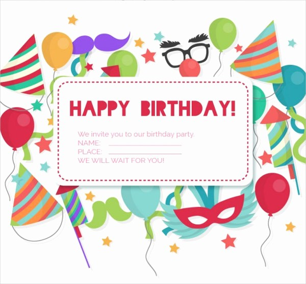 Birthday Invitation Card Template Free Lovely 30 Birthday Invitation Designs