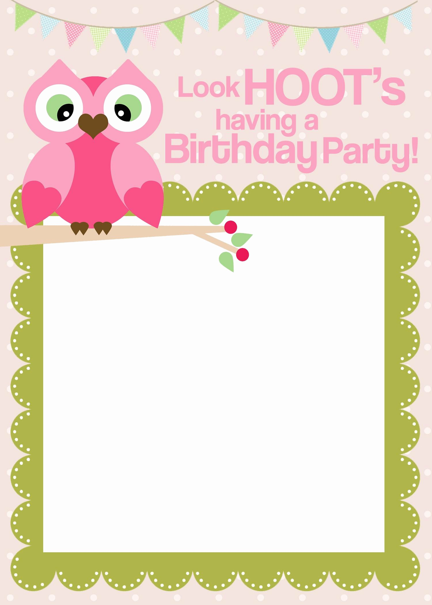 Birthday Invitation Card Template Free Lovely Free Printable Party Invitations Templates